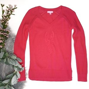 Lilly Pulitzer Azalea Embroidered Lobster Sweater